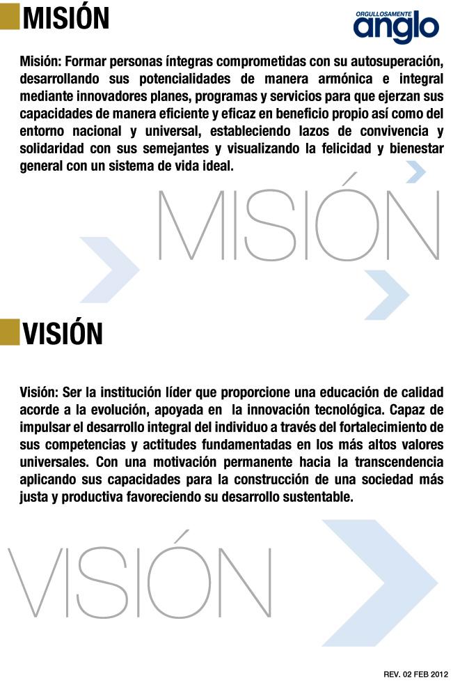 MISION-VISION-INSTITUTO DE ESTUDIOS SUPERIORES ANGLO - UNIVERSIDAD-ANGLO-COATZACOALCOS